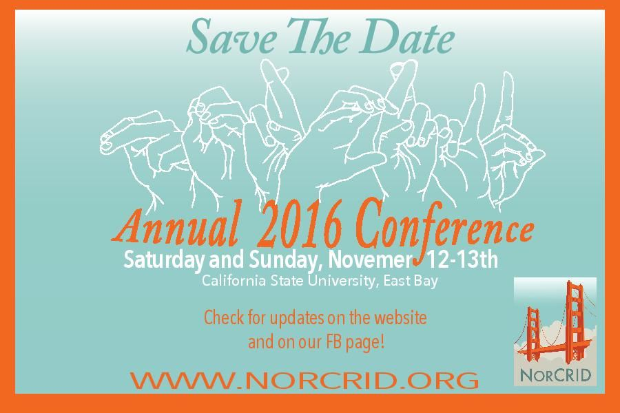 Save the Date NorCRID Annual Conference (November 12-13, 2016)